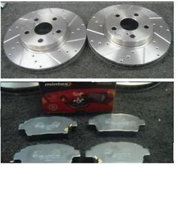 Toyota-Celica-1-8-Vvti-140-1999-02-perforados-Ranura-Frontal-Disco-De-Freno-Mintex-almohadillas