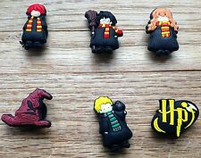 6 x Harry Potter Shoe Charms JIBBITZ CHARMS  CROC TOPPERS WRISTBAND BRACELET UK