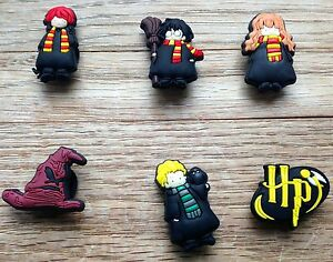 6 X Harry Potter encantos del zapato encantos Jibbitz Cocodrilo Toppers Muñequera Brazalete UK