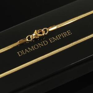 La moda de serpientes cadena de oro real dorado 48 cm o 51 cm x 1,2 mm