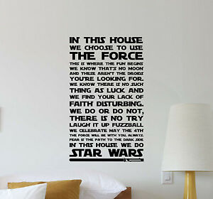 Image Is Loading In This House We Do Star Wars Wall