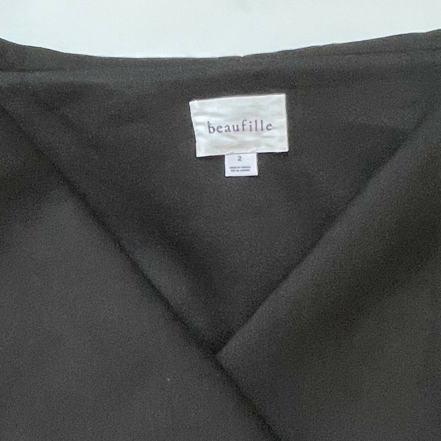 Beaufille Women's Clothing Size 2 Black Large Col… - image 11