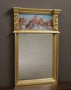 TALL  MIRROR ~ Jim Coates ~  1//12th scale ~  Dollhouse Miniature ~ Room Box