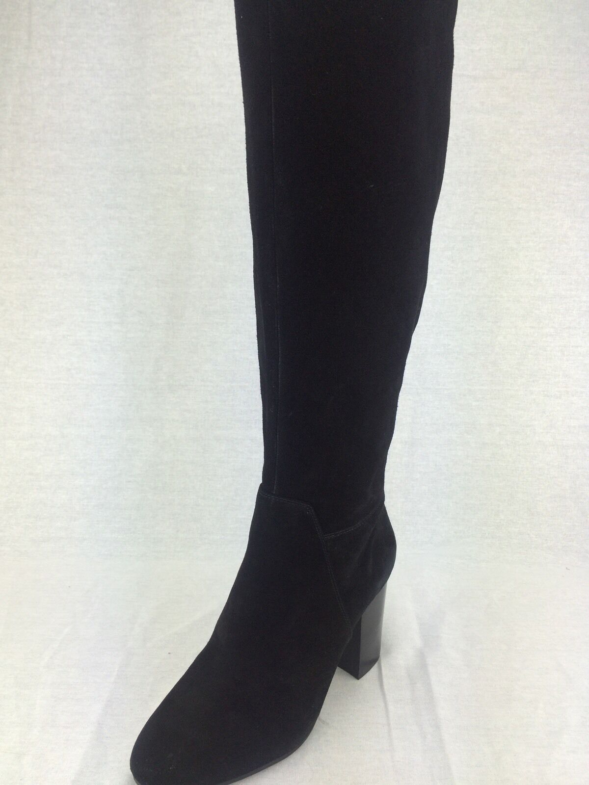 Vince Camuto Sashe Women's High Shaft Heel Boots,Black Verona ,New,6M, 0299