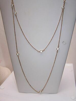 9875 Vintage 29 Gold Tone Chain Necklace /& Forest Green Crystals Sarah Coventry