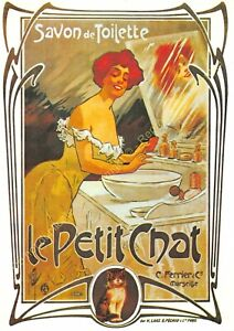 CP Poster Advertising Soap Toilet The Small Cat Marseille Edit Nugeron J51