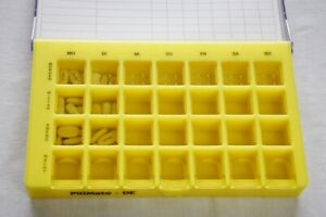 Grosser-Multidosierungs-Wochenspender-28-Faecher-7-Tage-Pillendose-Pillenbox