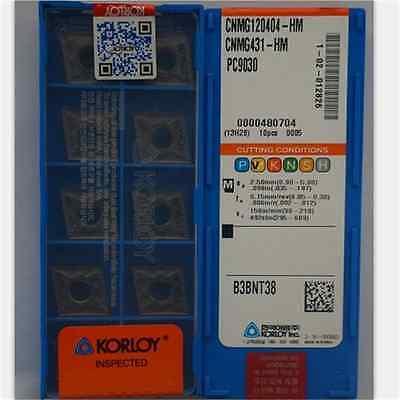 20pcs KORLOY CNMG431-HM CNMG120404-HM PC9030 Carbide Inserts New
