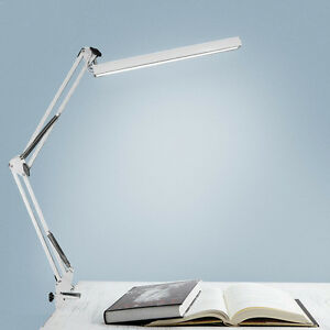 desk lamp reading adjustable folding clip on led table swing arm light lamp us ebay. Black Bedroom Furniture Sets. Home Design Ideas