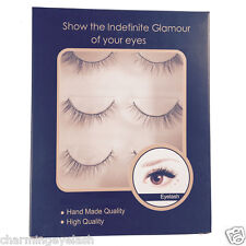 3 Pairs of 100% Real Hourse Hair Strip Lashes - False  Eyelashes-967