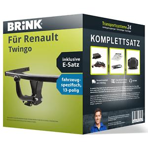 NEU inkl Anhängerkupplung BRINK starr für RENAULT Twingo E-Satz KIT kpl EBA
