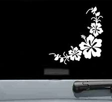 Corner hibiscus flower group vinyl decal bumper sticker honu hawaii car truck