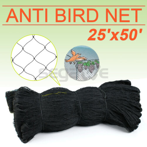"50/' x 25/' Poultry Netting Quail Net Chicken Nets Multi-nylon Game Bird 2/"" Hole"
