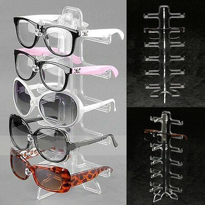 Plastic Frame Glasses Eyeglasses Sunglasses Display Show Holder for 5 Pair Stand