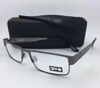 Spy Optic Eyeglasses Elijah 55-16 Rectangular Gunmetal Frame W/spring Hinges