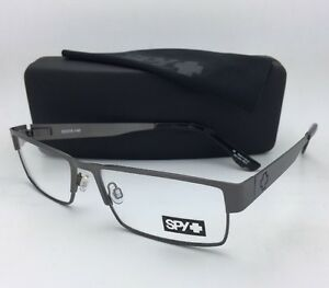 41acd3b7c5 New SPY Optic Eyeglasses ELIJAH 55-16 Rectangular Gunmetal Frame w ...