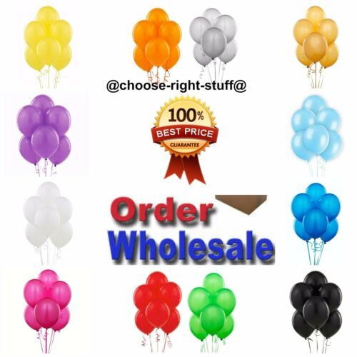 "100-5000 LARGE PLAIN BALLONS helium BALLOONS Quality Birthday Wedding BALOON 10/"""