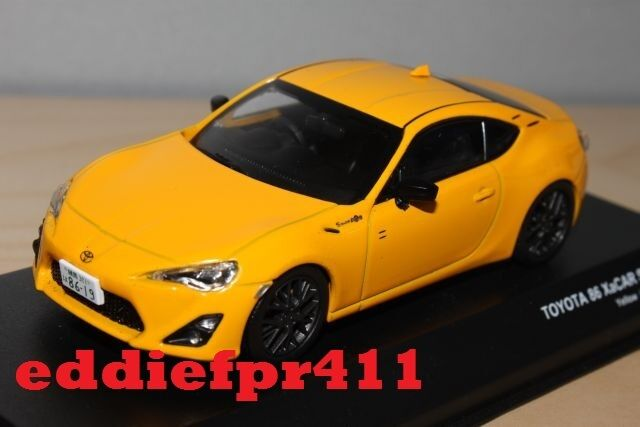 1 43 2012 TOYOTA 86 GT LIMITED COUPE giallo J COLLECTION DIECAST XACAR nero RIM