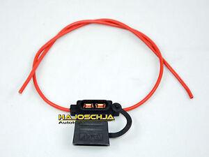 Sicherungshalter Sicherung KFZ ATO Spritzwassergeschützt mit 1,5 mm² Kabel