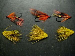 6  RUSTY RAT SIZE  6 SALMON FLY FISHING FLIES   LIGAS