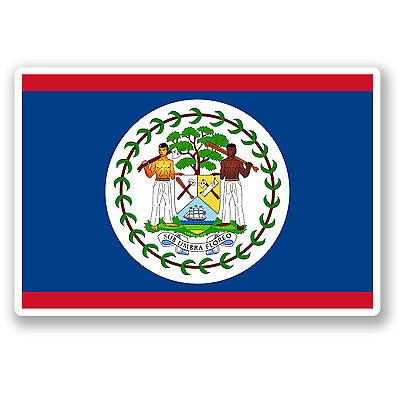 2 X bandera de Belice Pegatina de vinilo Laptop Equipaje de Viaje #4417