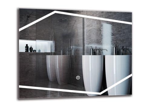 Badspiegel mit LED BeleuchtungTouch SchalterWandspiegel DELUXE M1ZD-43