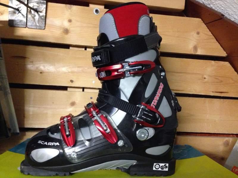 Scarpa Tornado nero scarponi da sci allmountain freeride misura MP30,5 ski avvio