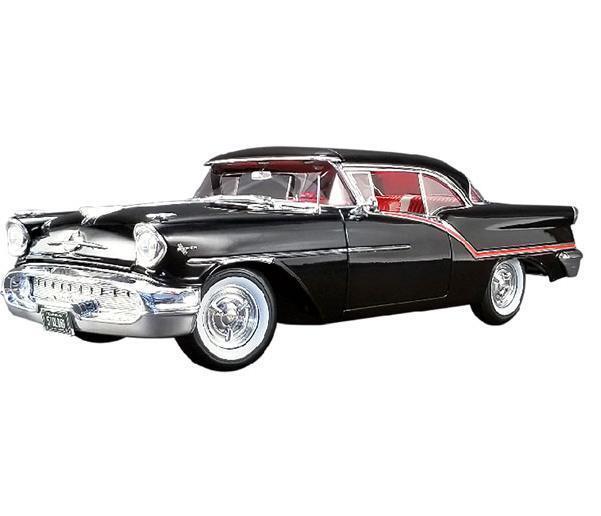 ACME 1 18 1957 Oldsmobile Super 88 Diecast Voiture Modèle Noir A1808004