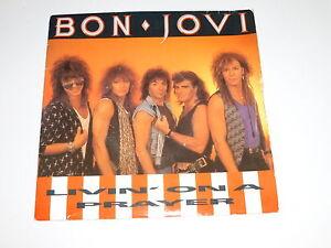 BON-JOVI-Livin-039-On-A-Prayer-Rare-1986-UK-7-034-Vinyl-Single