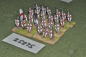20mm Medieval / Crusader - Spearmen 24 Figures Inf (25275)