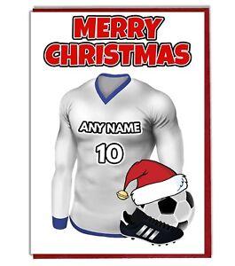 Weihnachtskarten Personalisiert.Details Zu Personalisiert Fußball Themen Weihnachtskarte Tottenham Farben
