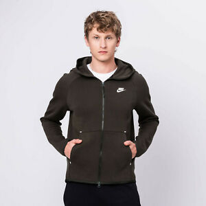 Nike Tech Fleece Full Zip Hoodie Dark Olive 928483 355 Men S Size Small 884497800950 Ebay