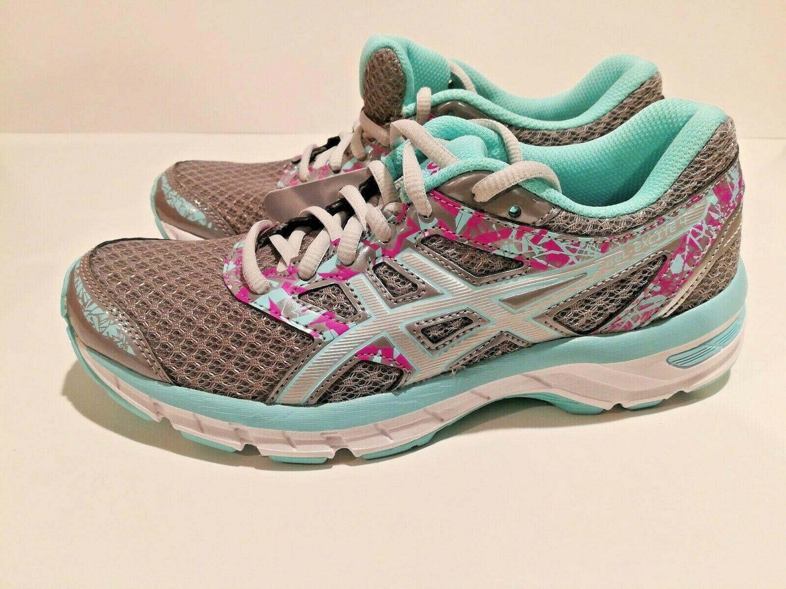 ASICS Gel Excite 4 Womans running scarpe  Aluminum argento Aqua Splash Dimensione 6.5  sport caldi