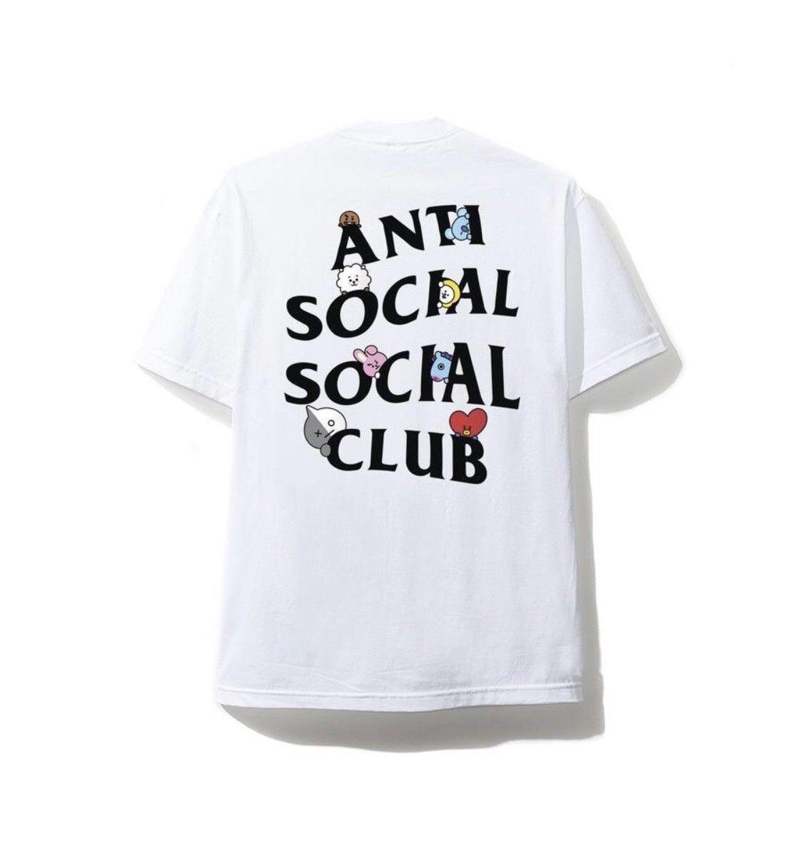 Anti Social Social Club x BT21 Club Peekaboo Tee White Size S M L XL