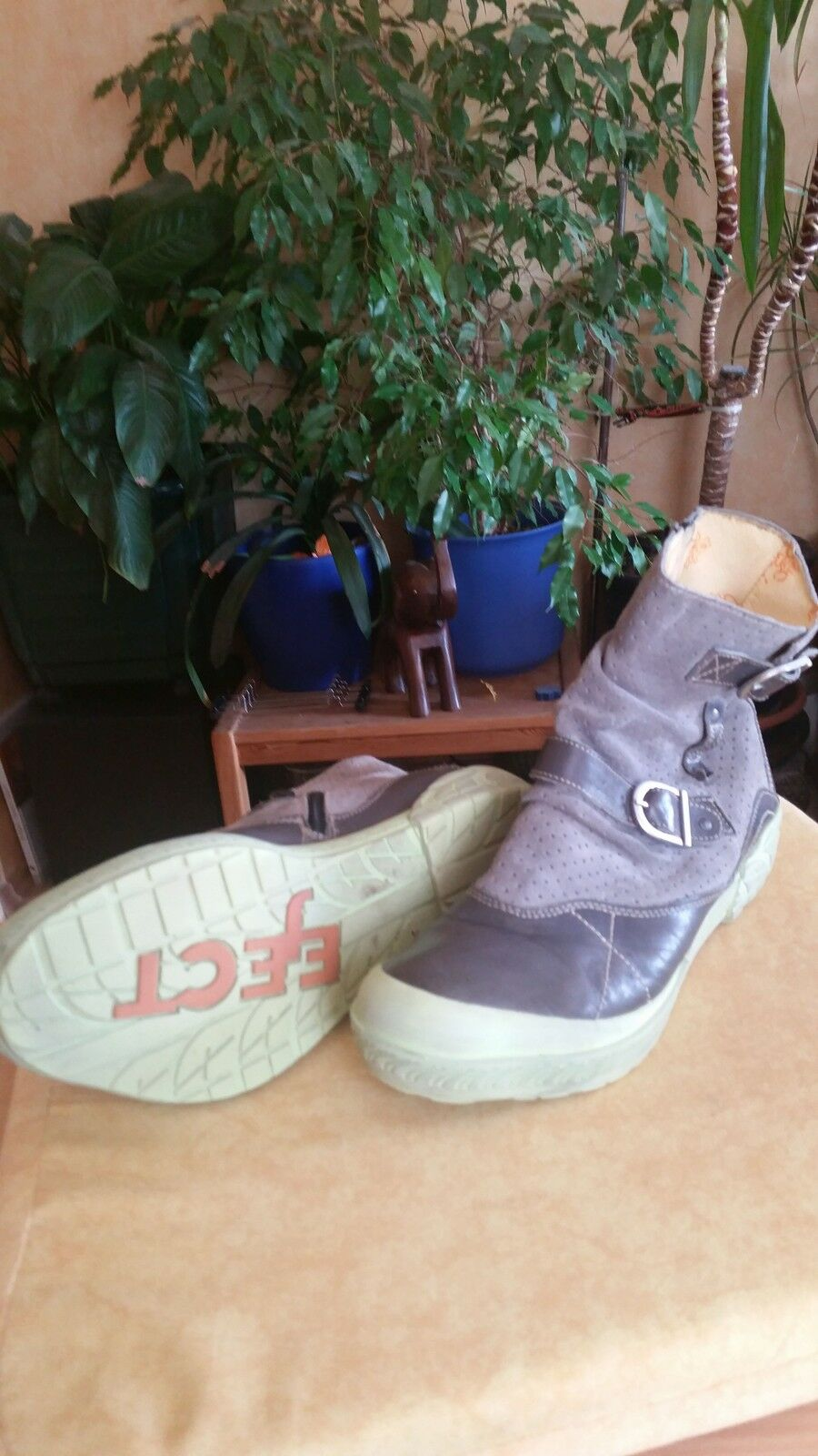 ❤ Boots Eject Wave Stiefeletten Echtleder Boots ❤ Grau  ❤ e9fc39