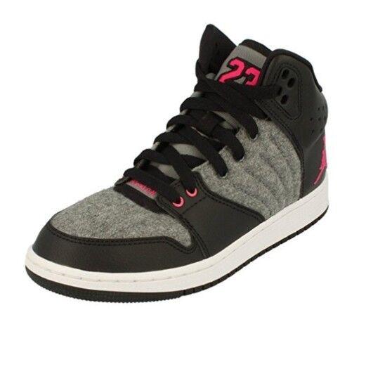 Nike Jordan 1 1 1 Flight 4 Prem GG Para Damas Niñas Entrenadores de Baloncesto UK 5 Negro gris  gran selección y entrega rápida