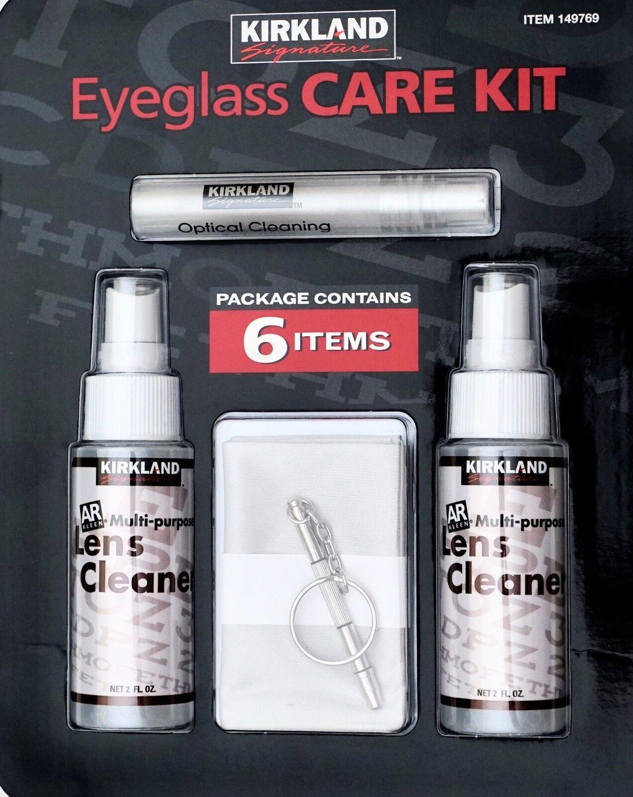Kirkland Eyeglass Care Lens Kit Spray Cleaner Key Chain Screw Driver Microfiber
