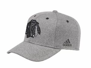 adidas-Men-039-s-Chicago-Blackhawks-NHL-Charcoal-Flex-Hat