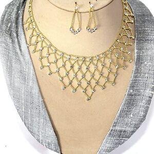 Brautschmuck gold  SCHMUCKSET Kette+Ohrringe Bollywood-Brautschmuck GOLD 2 | eBay