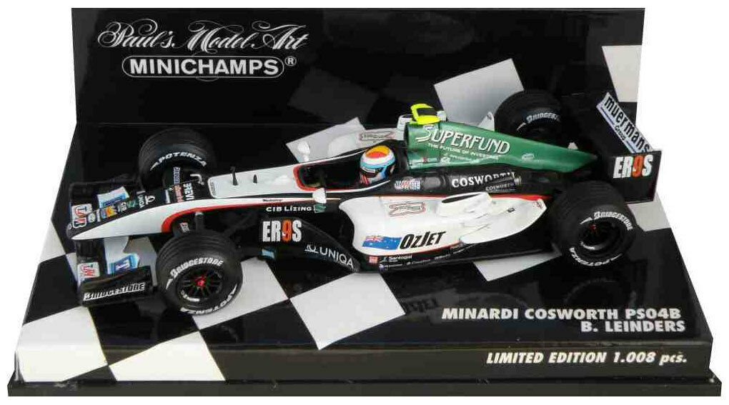 Minichamps Minardi PS04B 2004 - - - Bas Leinders 1 43 Scale de28f8