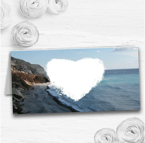 View Of A Cyprus Beach Abroad Wedding Table Seating Name Place Cards