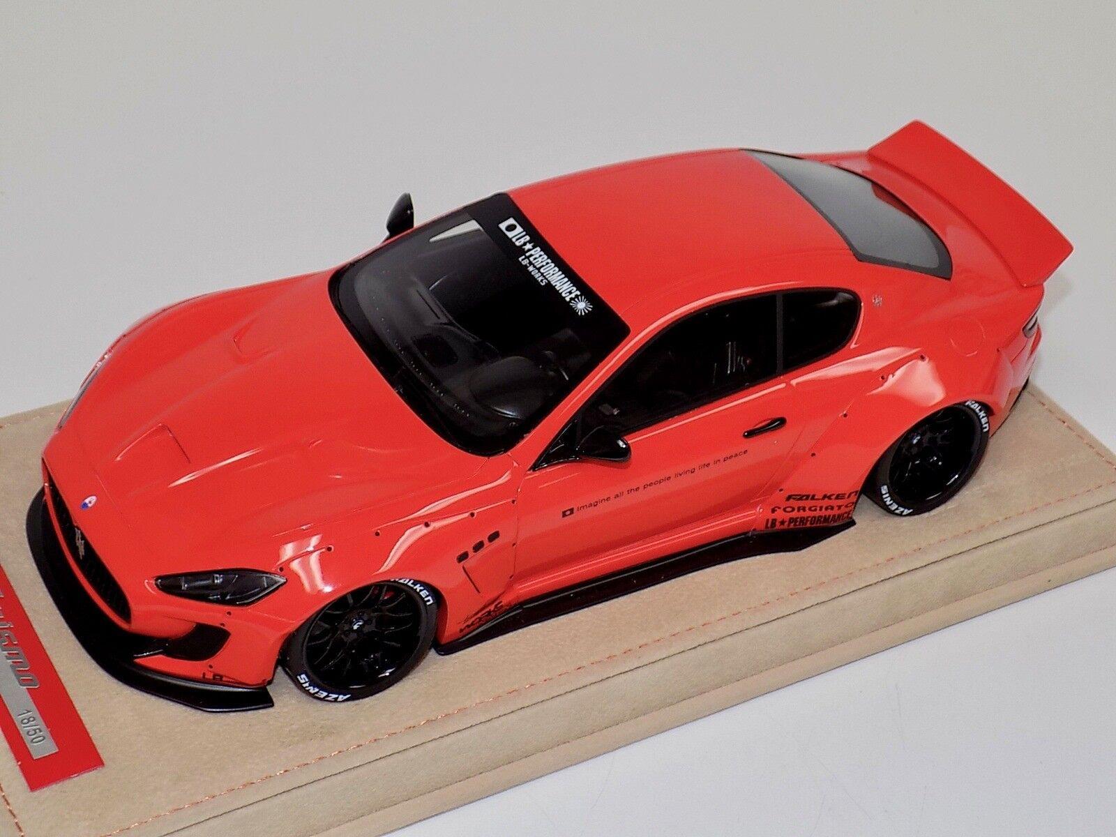 1 18 AB Models Maserati Granturismo Liberty walk Red No Decals Alcantara Base
