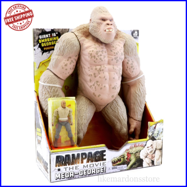 "Rampage the Movie Mega George 41cm 16/"" Mega Gorilla Toy Action Play Set Figure"