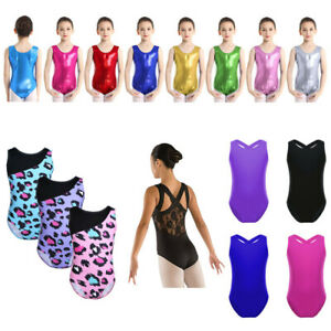 Kids-Girls-Gymnastics-Leotards-Ballet-Dance-Dress-One-Piece-Jumpsuit-Dancewear