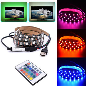 USB-led-light-5050-de-color-RGB-LED-luz-de-tira-TV-Retroiluminacion-Control-Remoto