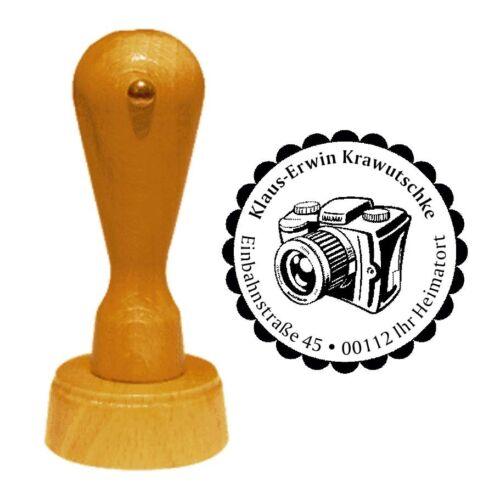 Stempel « FOTOGRAF » Adressenstempel Motiv Fotapparat digital