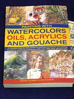 Painting With Watercolors Oils Acrylics & Gouache Jelbert Art Technique Book