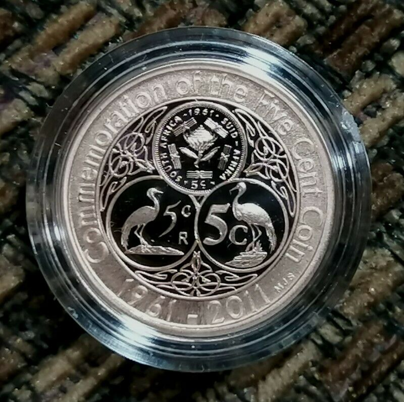 RARE 2012 SA Proof Coin Set with Commemorative 5c