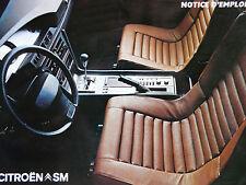 Notice d'utilisation - Citroën SM Carbu