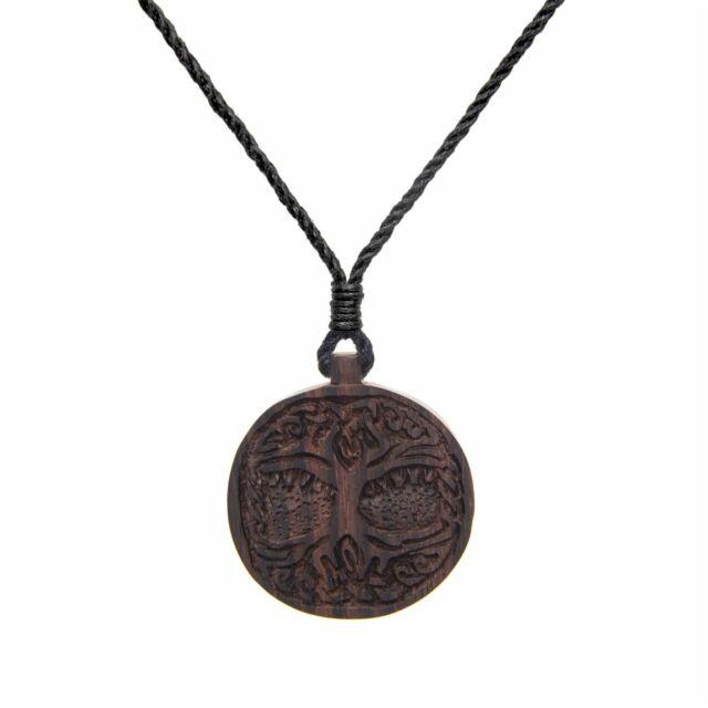 81stgeneration Wood Tree of Life Knowledge Charm Pendant Necklace